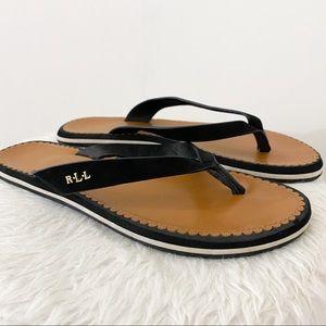 Ralph Lauren | Ryanne Logo Sandal Black Size 8.5